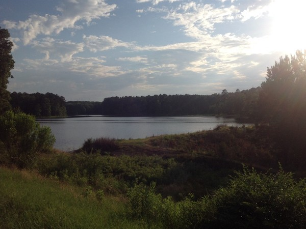 Beautiful Eagle Lake, its supportive dam can be seen in this picture - Indian Lakes Subdivision