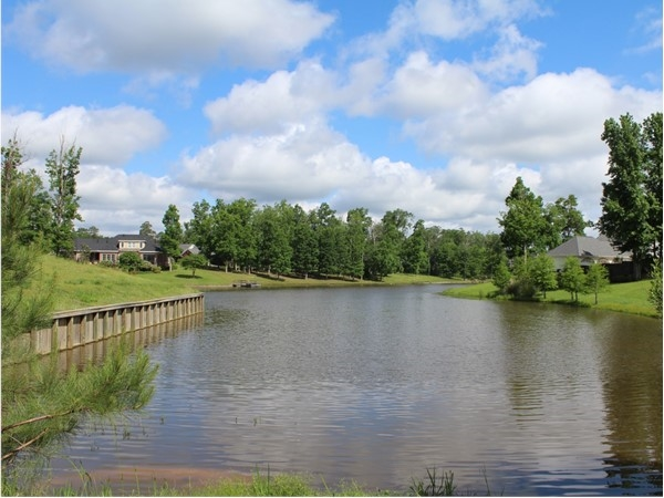 The Lakes in Calvert Estates features luxury homes with this beautiful view