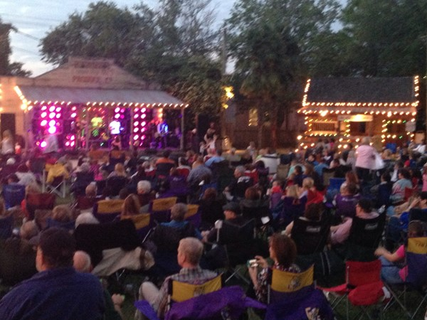 Beautiful night at Music In The Park; Rivertown in Kenner