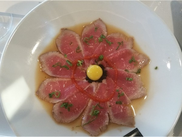 Tuna Sunflower dish at Tsunami Sushi Restaurant