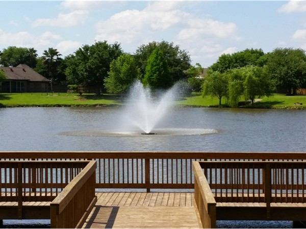 Residents of Field Crest Estates enjoy their neighborhood pond. Gorgeous views!