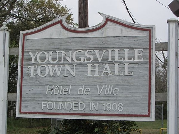 Youngsville Town Hall heritage sign
