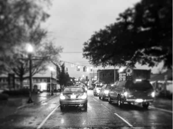 Rainy night in Downtown Hammond