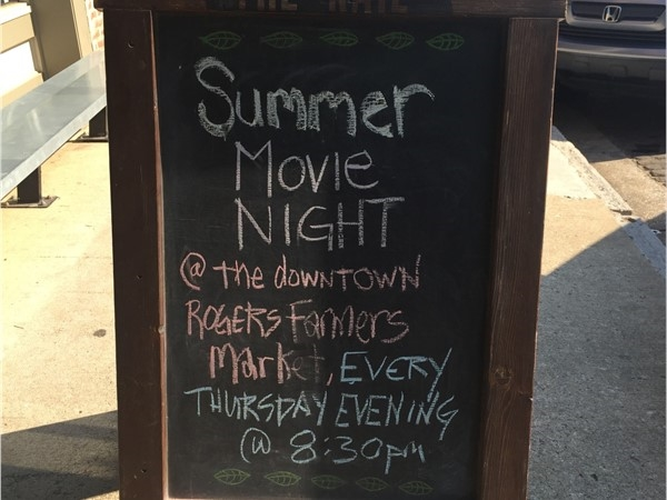 Downtown Rogers is great for summer family movie night