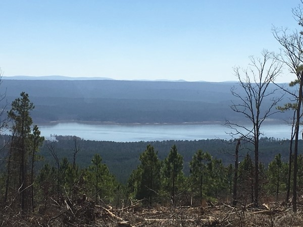 From Scenic highway 7, a view of Nimrod Lake below