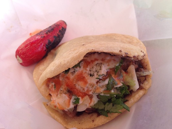 Gorditas! One of the great variety of choices Yeyo's taco stand provides