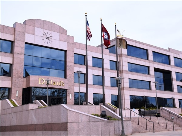 Dillard's headquarters overlooking the Arkansas River near downtown Little Rock
