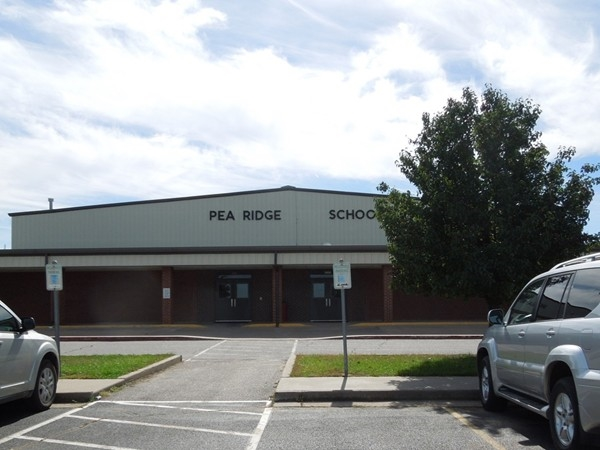 Main Entrance of Pea Ridge High School, Pea Ridge