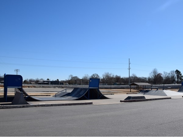 This skate park is located near the community center and farmers market in Jacksonville