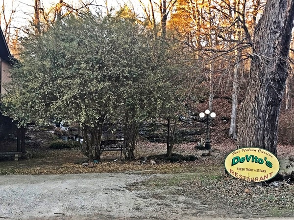 Not just a restaurant, but also a destination. Enjoy the natural creek, trout farm, and good food