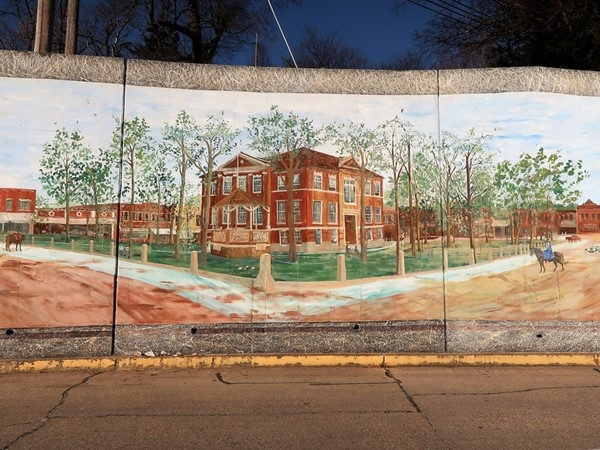 A journey through time. Located just off the square - this mural is a time stamp of our heritage
