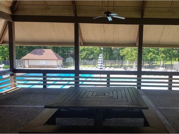 Overbrook pavilion and pool