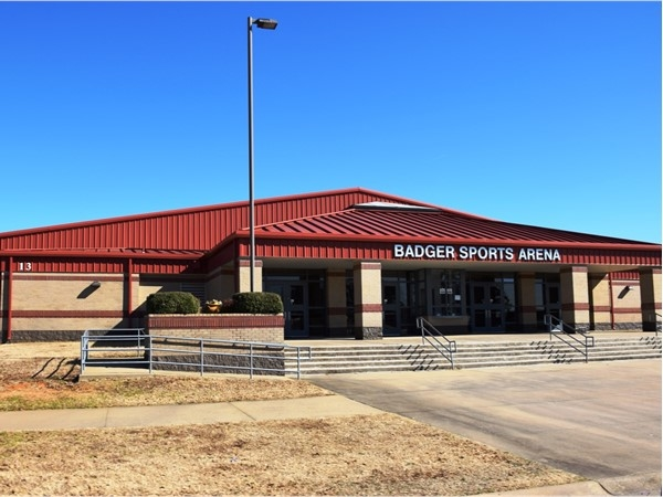 The Badger Sports Arena is a top of the line gymnasium for basketball, volleyball, etc.