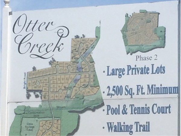 If you're interested in building, there are beautful lots available in Otter Creek, Cave Springs