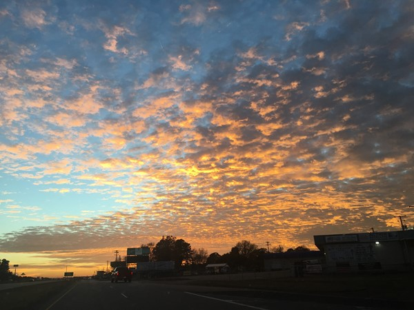 Beautiful sunset over I-30 in Benton