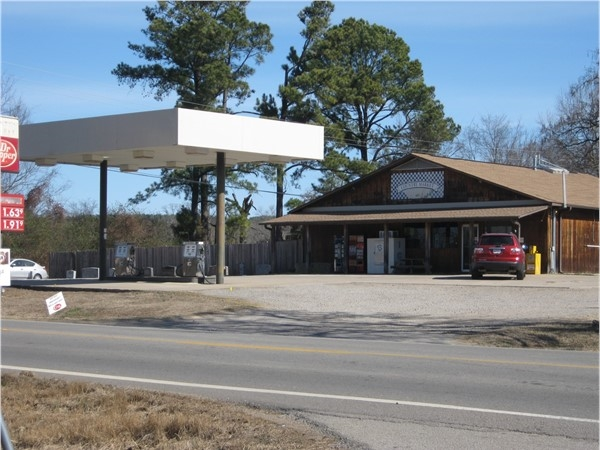 Fantastic country grocery store and gas station just outside of city limits