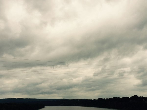 Clouds coming in above the Arkansas River