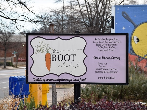 The Root cafe is a popular locally owned restaurant. The mission: Build community through food