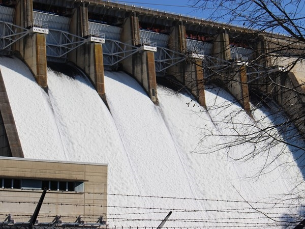 Greers Ferry Dam in Heber Springs