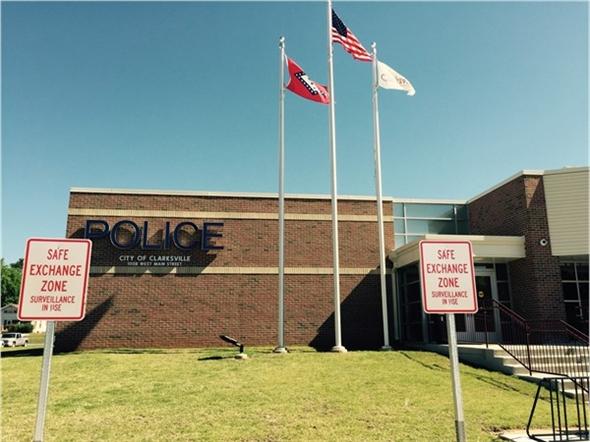 Safe Exchange Zone at Clarksville Police Dept. for safe transactions
