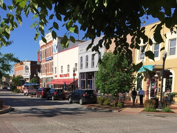 A cool view of downtown Bentonville! Come visit the square