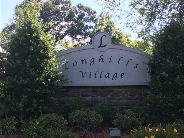 The beautiful entrance of Longhills Village subdivision in Benton