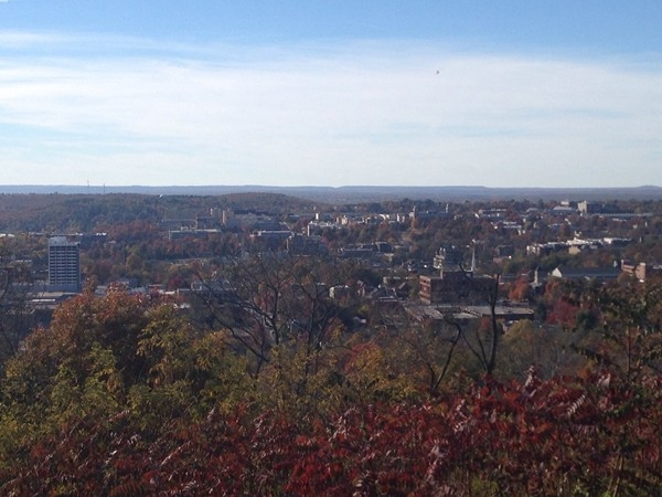 View of Fayetteville from Mount Sequoyah! Beautiful place