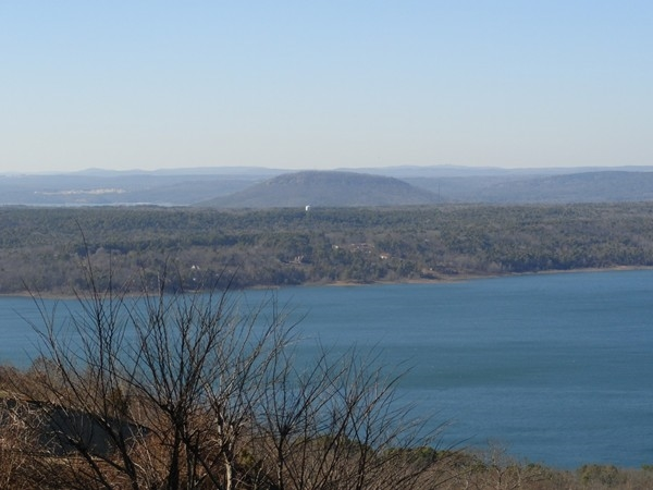 Beautiful view of Greers Ferry Lake and Sugarloaf Mountain from Diamond Bluff