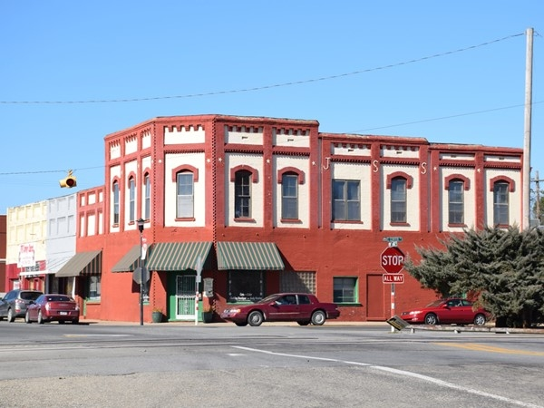 One of Beebe's historic buildings in the heart of downtown near the railroad tracks