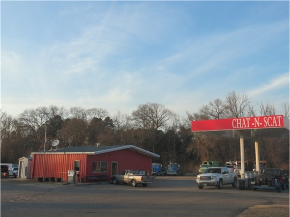 Chat N Scat...located on Hwy 21 in North Clarksville