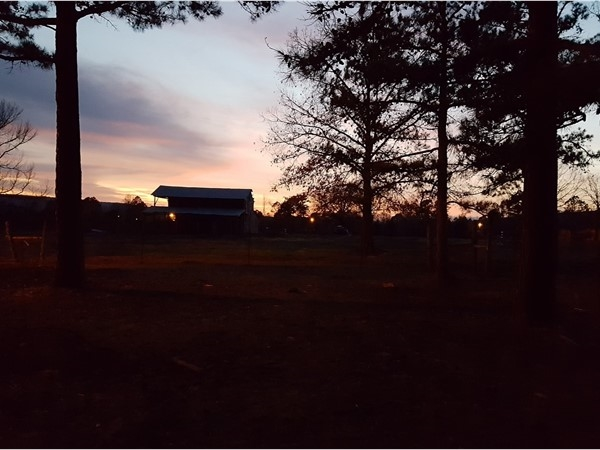 Another beautiful evening in Yell County Arkansas