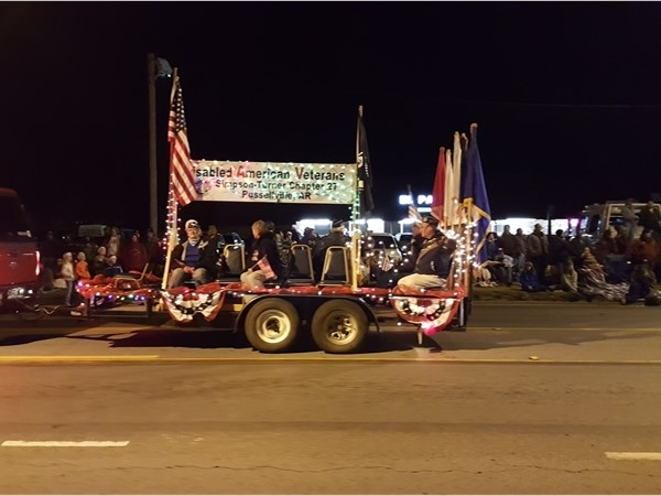 Disabled American Veterans in Dardanelle Christmas Parade 2016