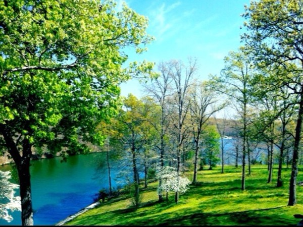Beautiful springtime view of Lake Windsor