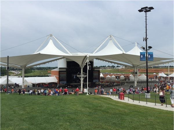 The Walmart AMP is a wonderful outdoor venue with great concerts