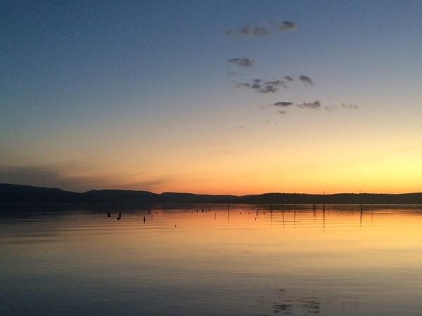 Beautiful sunset over Lake Dardanelle