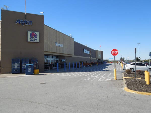 WalMart Super Center, view is to the west from east side of parking lot.