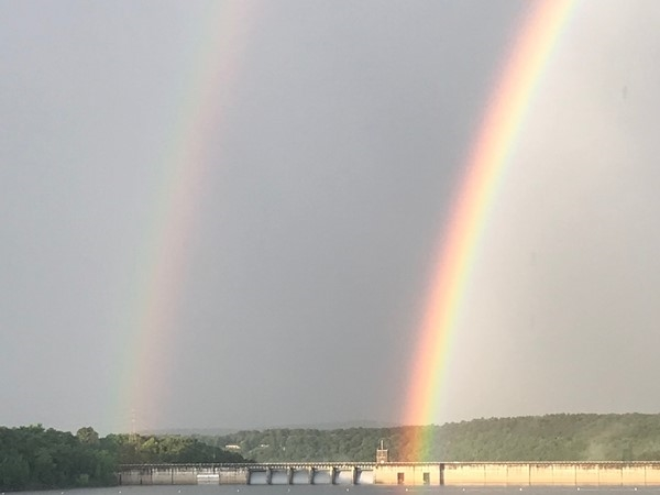Double rainbow at Greers Ferry Dam