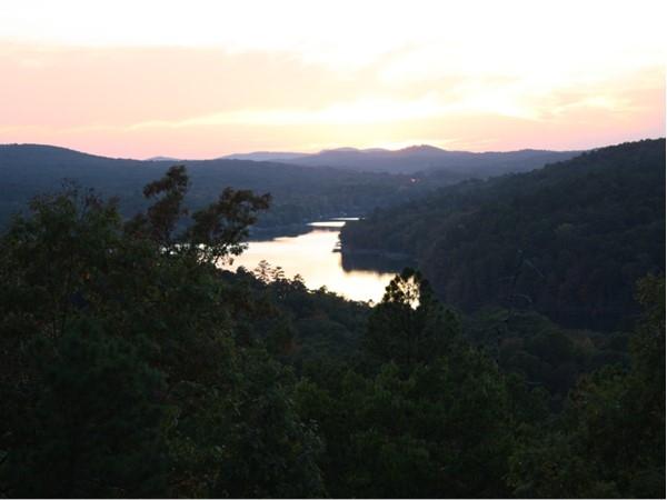 View of Cortez Lake and beautiful sunset
