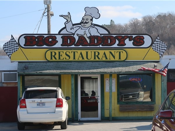 Big Daddy's on the south side of Harrison - the parking lot is always full