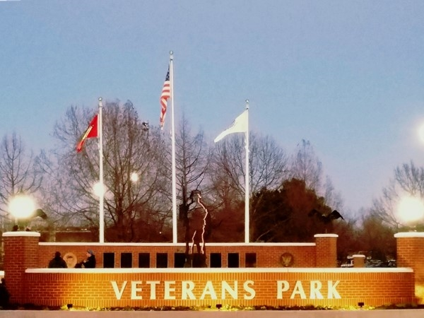 Veterans Park is dedicated to all Veterans and serves the community