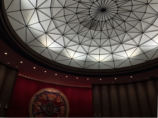 Beautiful ceiling in the State Capitol Supreme Courtroom