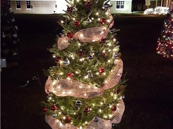 Dardanelle Area Chamber of Commerce sponsored Christmas tree