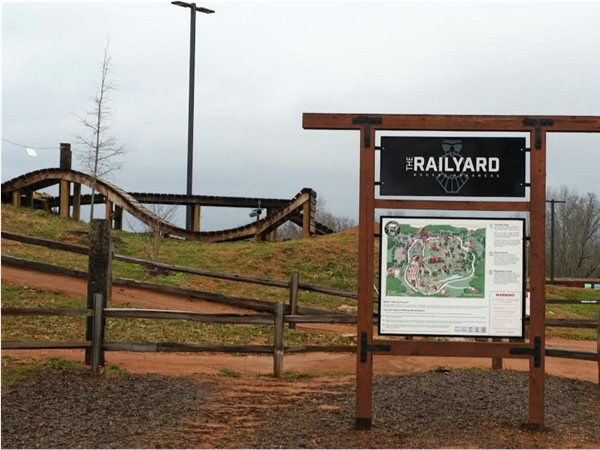 The Railyard is a natural surface bike park for riders of all skill levels to enjoy
