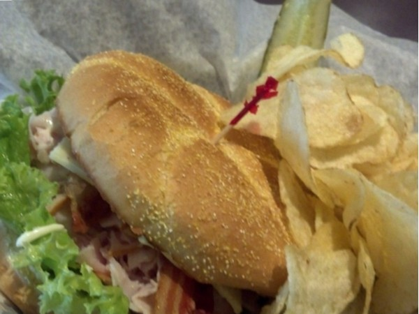 Yummy yummy! Iron Horse Coffee also has a menu of delicious sandwiches and soups