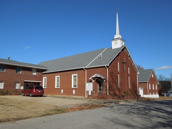 East side of First Baptist Church, Berryville