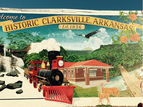 New mural depicting our great Historic Downtown Clarksville AR