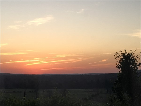Beautiful sun rise in Russellville