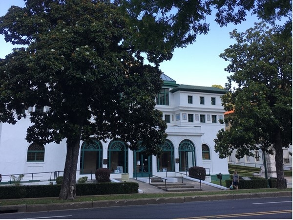 Historic Bathhouse Row in Downtown Hot Springs