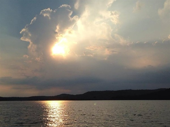 Lovely evening at Beaver Lake, viewed from Garfield
