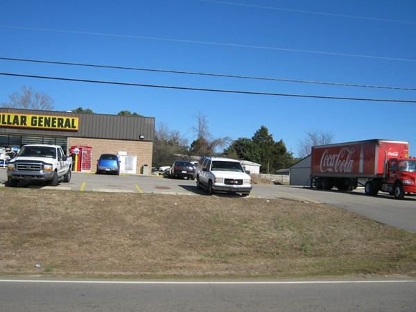 Coca Cola semi making a delivery at the Lamar Dollar General Store